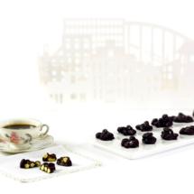 Rocas de chocolate y pistacho. Receta para crock pot