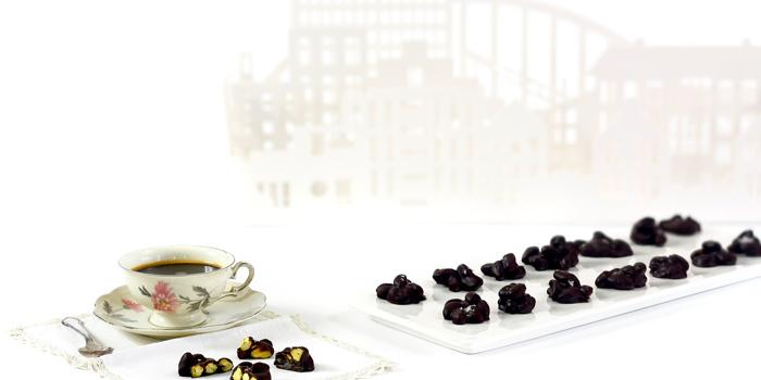 Rocas de chocolate y pistacho en crock pot