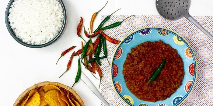 Chili con carne en crock pot