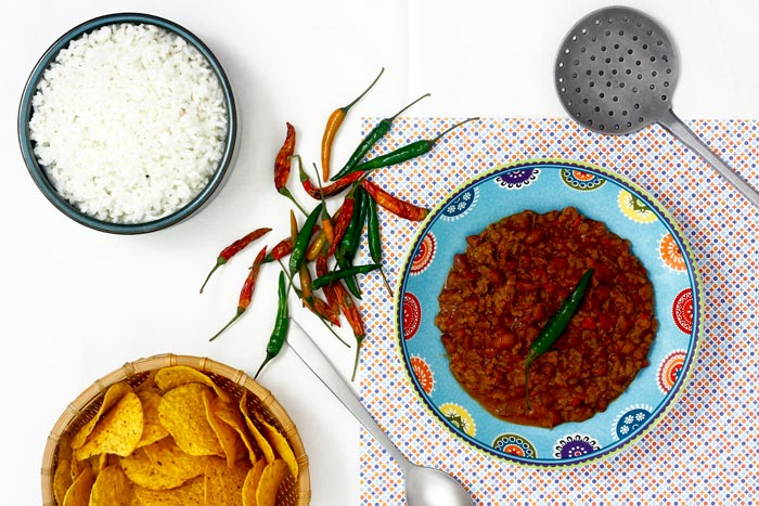 Chili con carne. Receta para crock pot