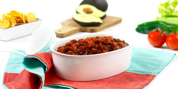 Chili sin carne en crock pot