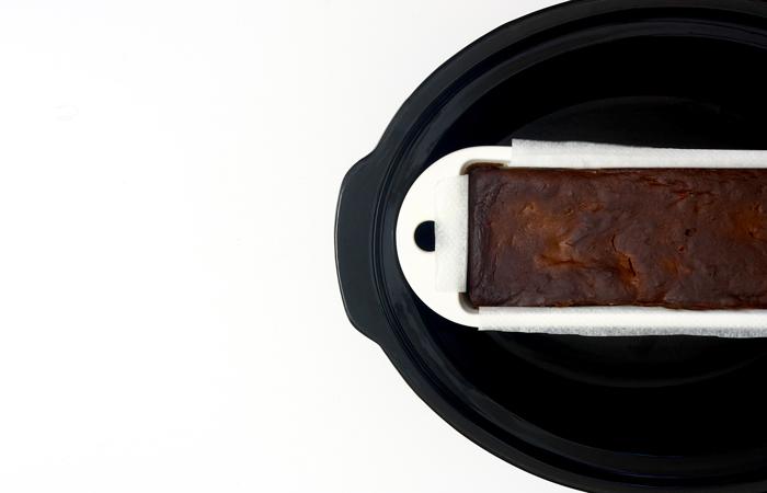 Fondant de chocolate y peras en crock pot