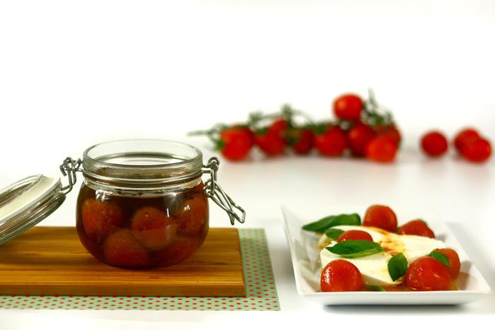 Tomates cherry confitados. Receta para crock pot