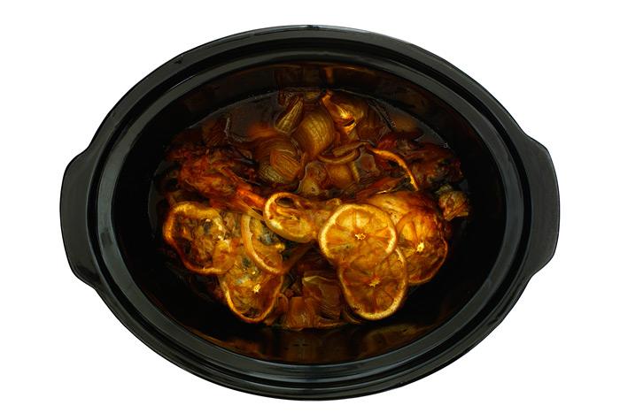 Cordero confitado con limón y miel
