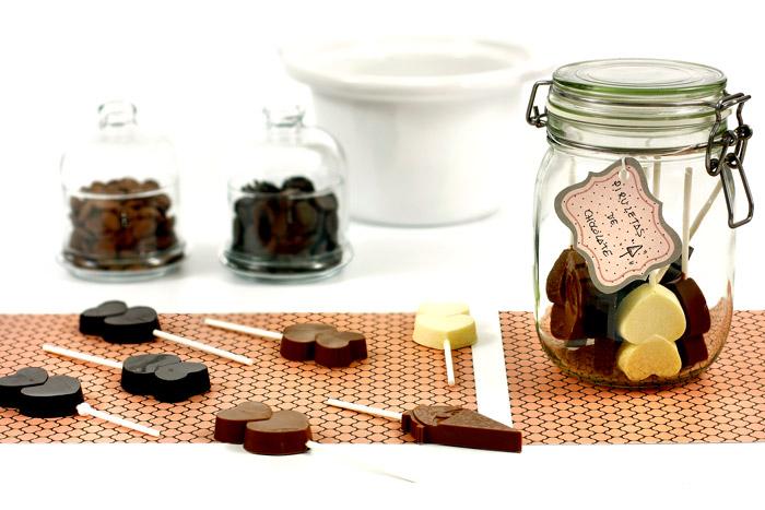 Piruletas de chocolate. Receta para crock pot o slow cooker