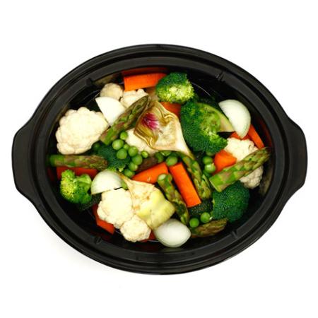Verduras asadas. Receta para crock pot o slow cooker
