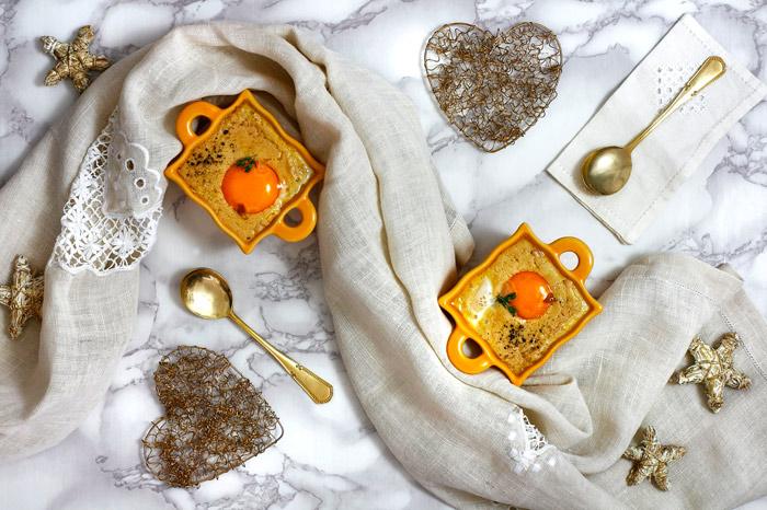 Huevos en cocotte con foie gras. Receta para crock pot o slow cooker