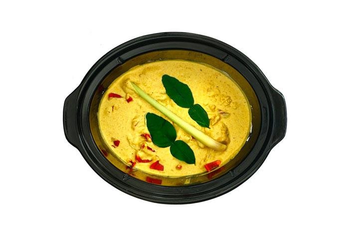 Curry de pescado. Receta para crock pot o slow cooker