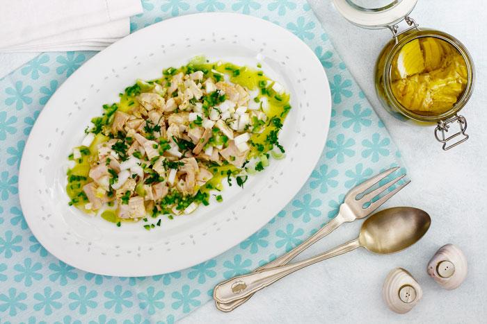 Ensalada de bonito fresco en slow cooker