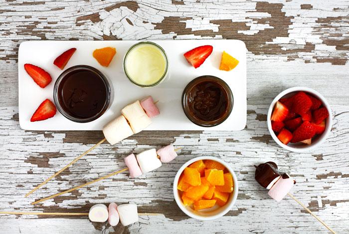 Fondue de tres chocolates en crock pot o slow cooker