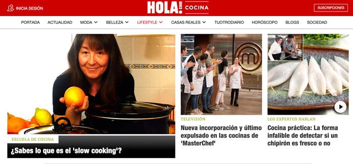 Entrevista de Marta Miranda en Hola.com