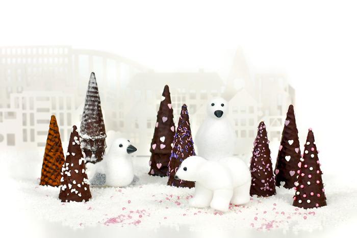 Arbolitos de navidad de chocolate. Receta para crock pot o slow cooker