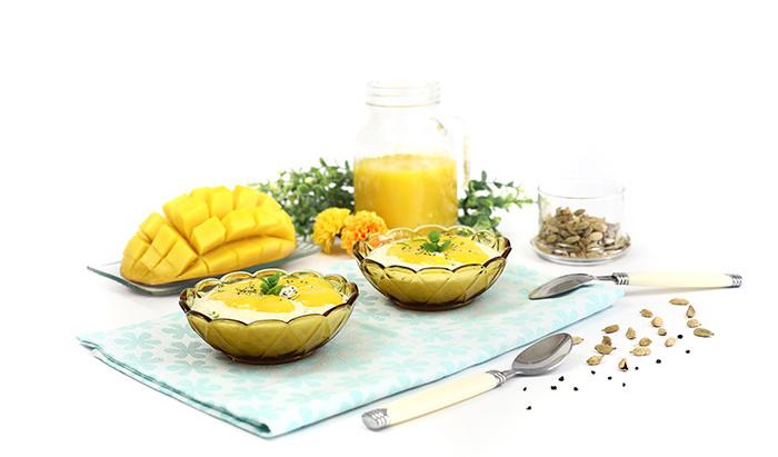 Arroz con leche, mango y lima. Receta para crock pot