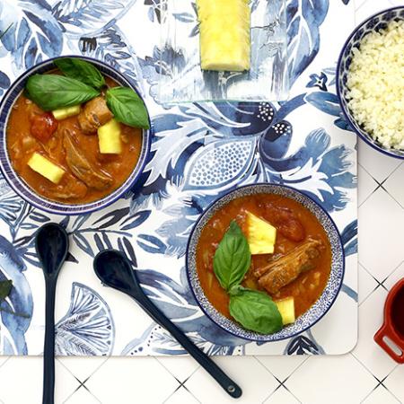 Curry thaï de pato. Receta para crock pot o slow cooker