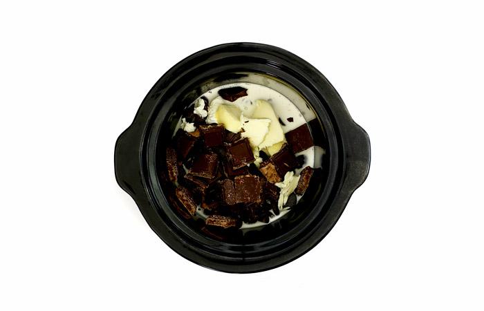 Ganache de chocolate. Receta para crock pot o slow cooker