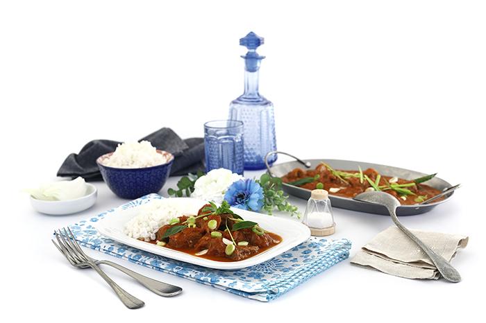 Curry rojo de cordero. Receta para crock pot o slow cooker