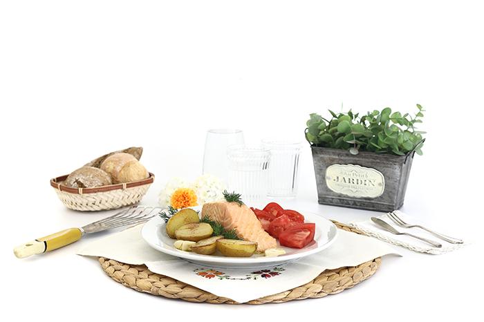Salmón confitado al eneldo. receta para crock pot o slow cooker