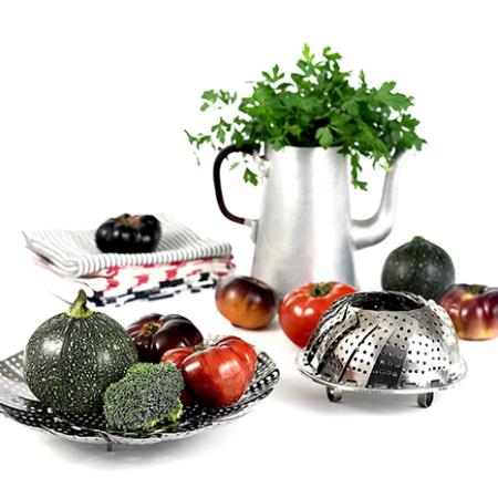 Vaporera extensible. Utensilios para cocinar con slow cooker