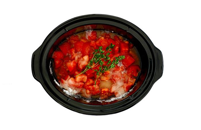 Mermelada de tomate y tomillo. Receta para crock pot o slow cooker