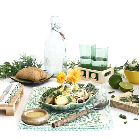 Ensalada de patata y hierbas. Receta para crock pot o slow cooker