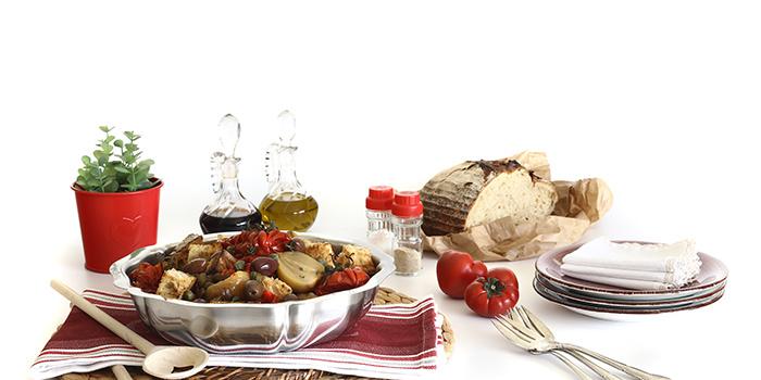 Panzanella de hortalizas asadas